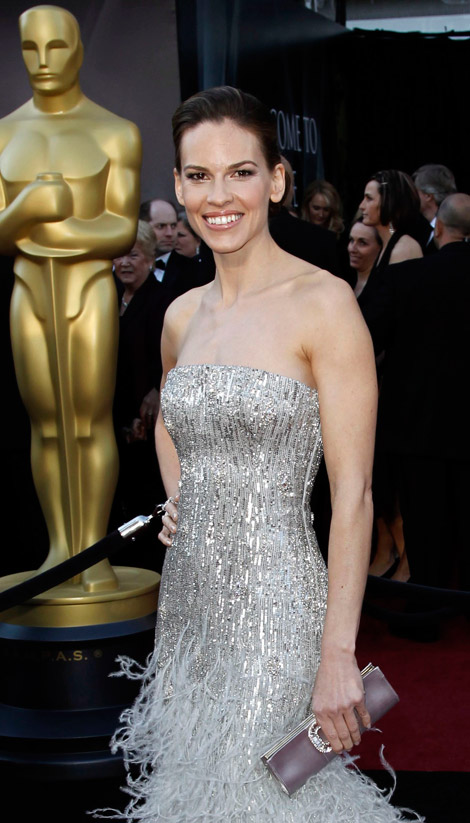 Hilary Swank Gucci dress 2011 Oscars