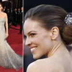 Hilary Swank sequined Gucci Premiere dress 2011 Oscars