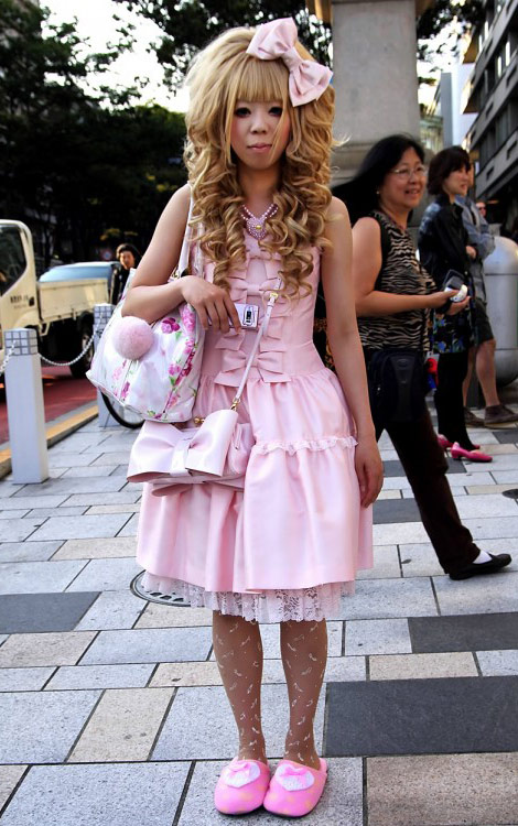 Hime Gyaru pink bow dress