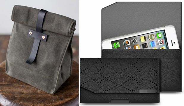 Hipster lunch bag phone pouch