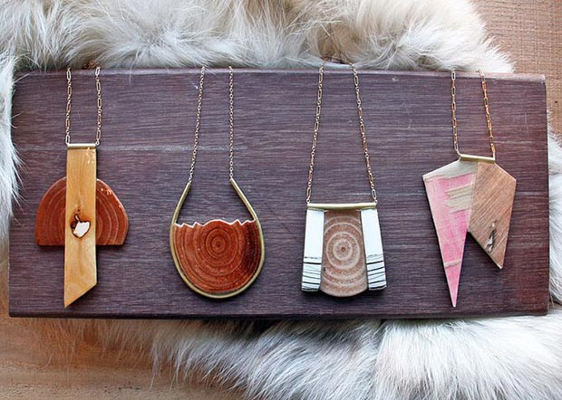 hipster necklaces wood