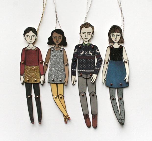 Hipster paper dolls Christmas gifts