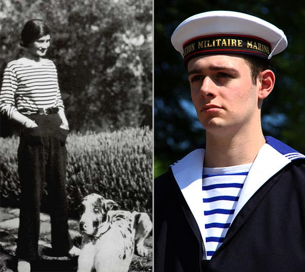 History of the navy striped top Coco Chanel french sailors