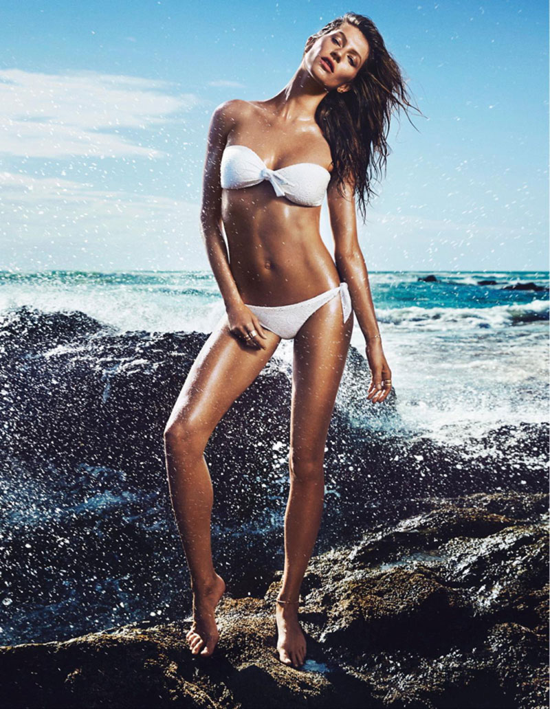 HM Summer 2014 swimsuit campaign Gisele Bundchen