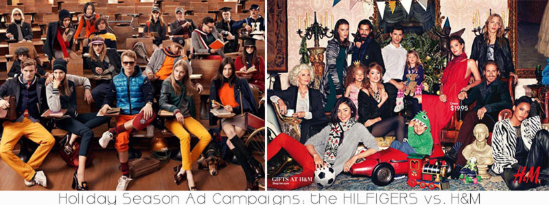 Holidays ad campaigns Hilfigers vs HM