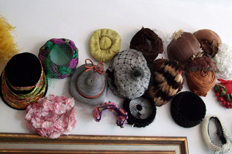 Home wall hats display