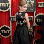 Homeland Morgan Saylor black dress 2013 SAG Awards