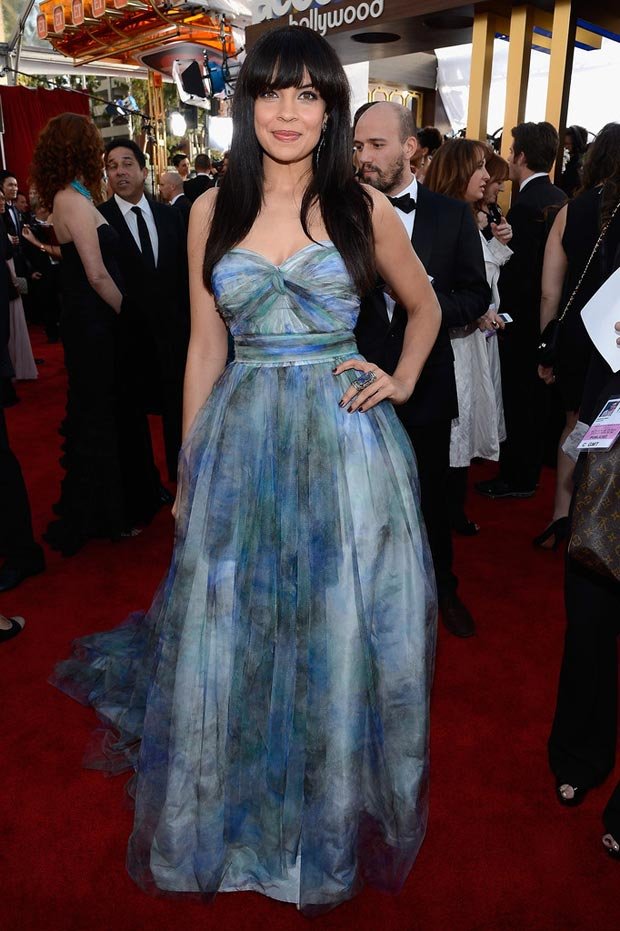 Homeland Zuleikha Robinson printed dress 2013 SAG Awards