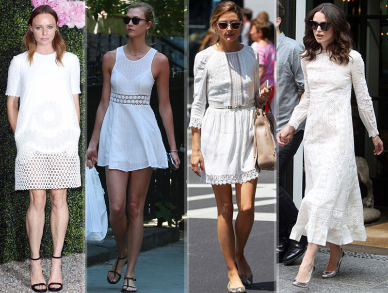 hottest dresses now white dresses