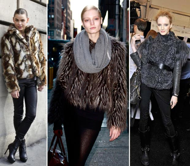 how models wear fur coats