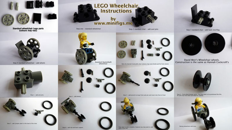 how to build Lego wheelchairs