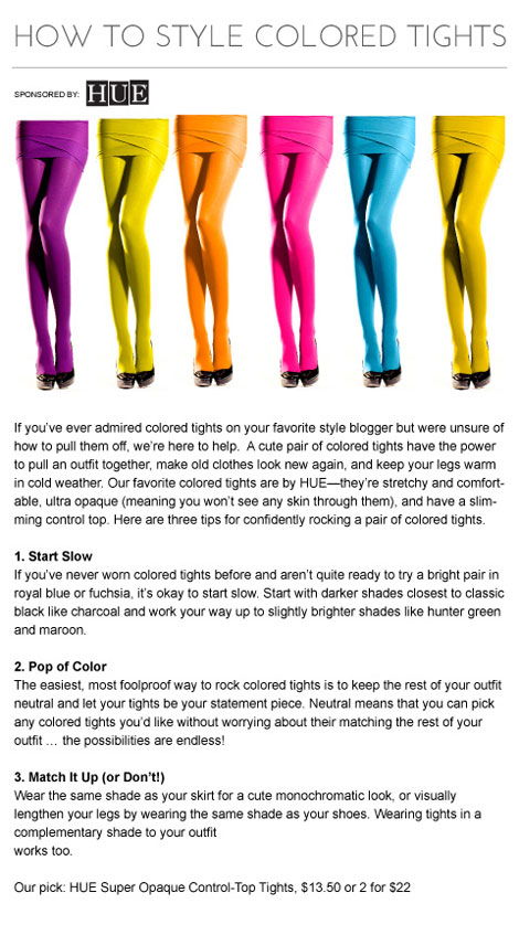 how to colored tights