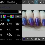 how to curved watermark for nails instagram