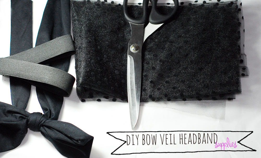 how to diy bow veil headband Valli Couture