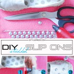 how to diy studded sneakers slip ons