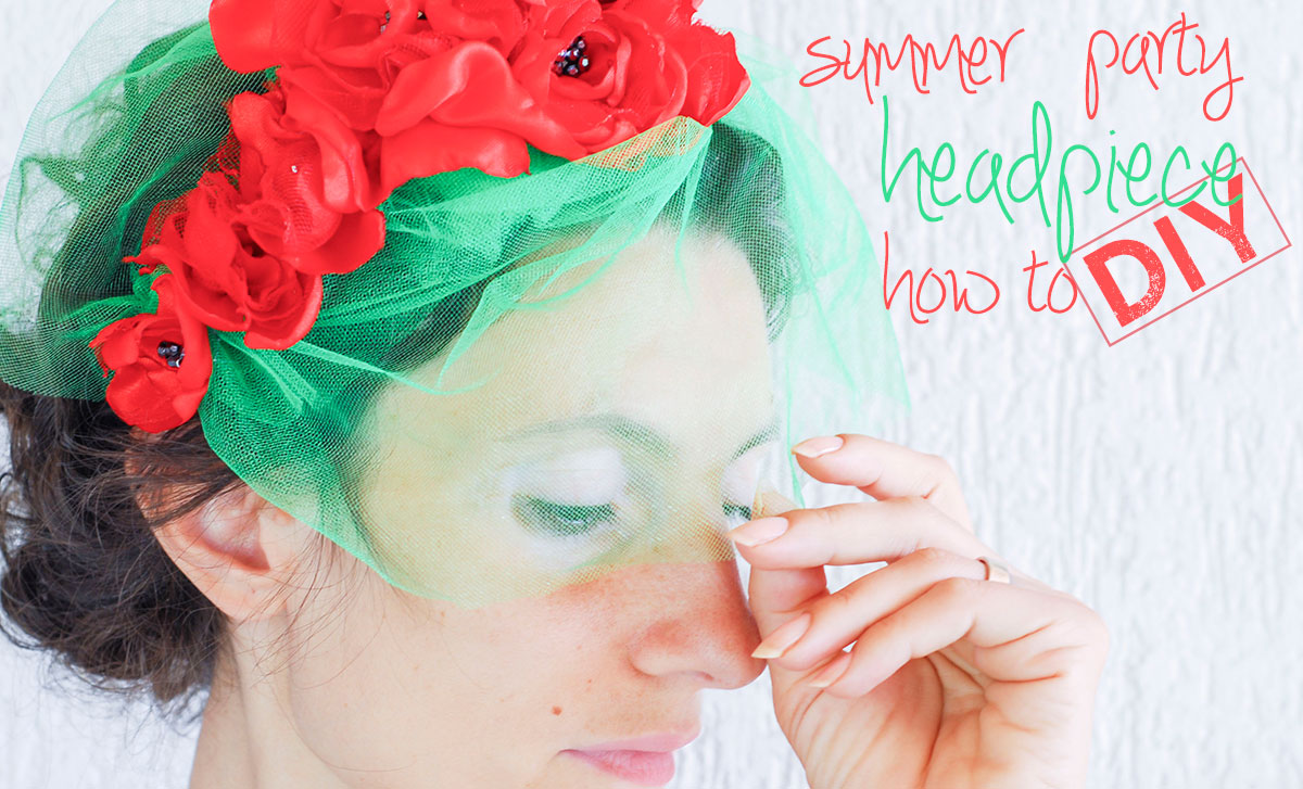 how to diy summer party wedding headpiece