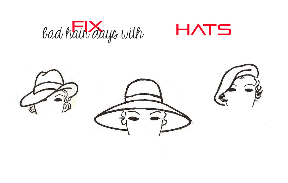 how to fix bad hair days with hats