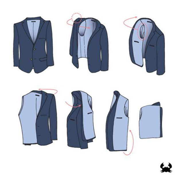 how to fold a blazer tutorial