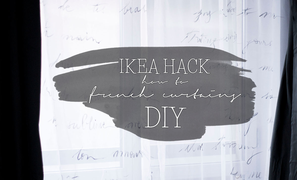 how to french curtains ikea hack curtains