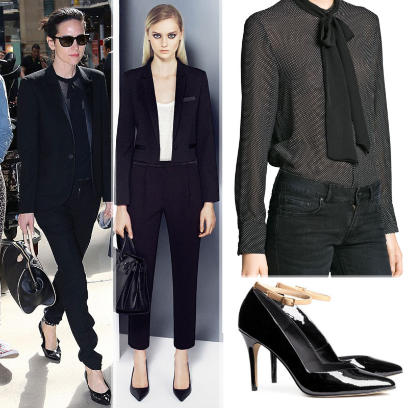 How To Wear The Season's Hot Trends: Noah's Jennifer Connelly Black Suit