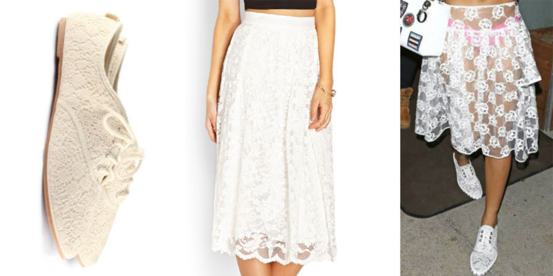 how to get Rihanna s white lace look for less