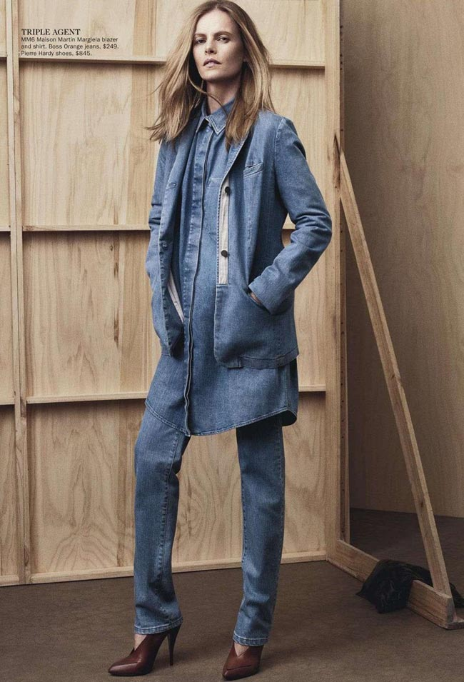 how to layer denim Vogue Australia January 2013