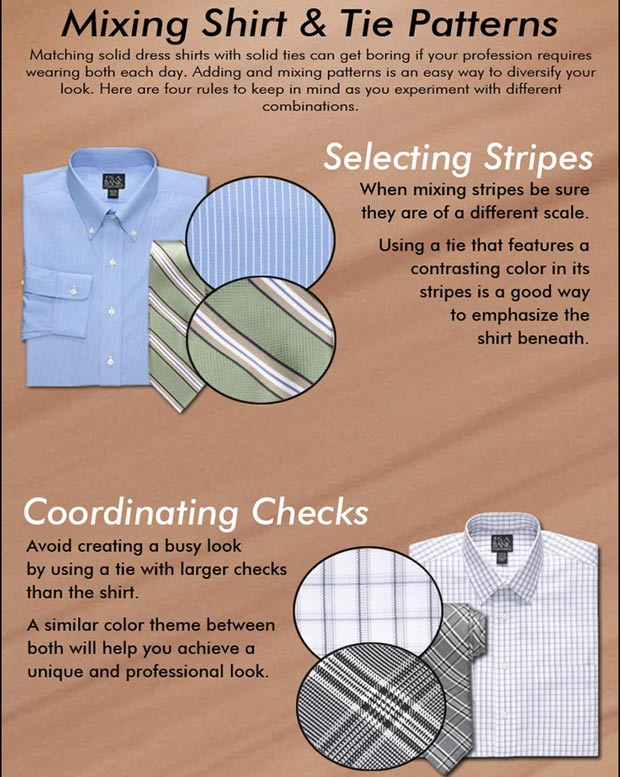 How to mix shirts and ties
