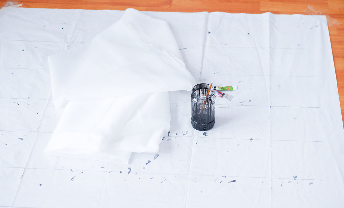 how to prepare to write on fabric diy ikea hack