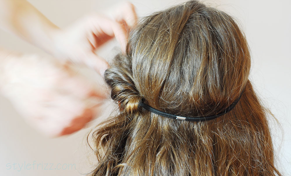 how to roll your hair with headband