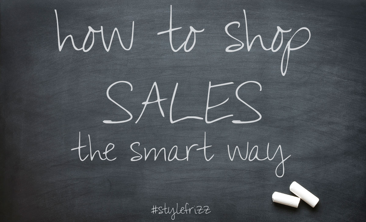 how to shop sales the smart way