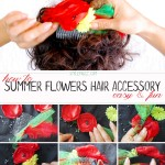how to summer flowers hair accessory diy step by step