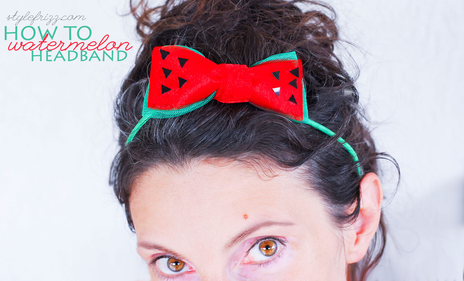 how to summer watermelon headband