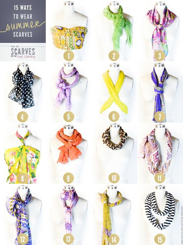 how to wear a summer scarf 15 ways