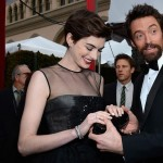 Hugh Jackman looks at Anne Hathaway nails 2013 SAG