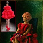 Hunger Games Effie Trinket wears red McQueen dress