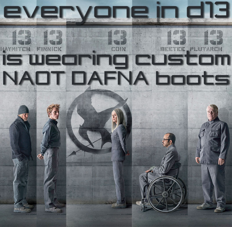 Hunger Games Mockingjay Part 1 boots Dafna Naot Scouts