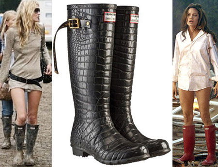 Hunter Boots Jimmy Choo Angelina Jolie Kate Moss