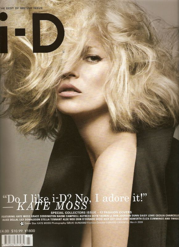 I-D Magazine March 09 Kate Moss cover