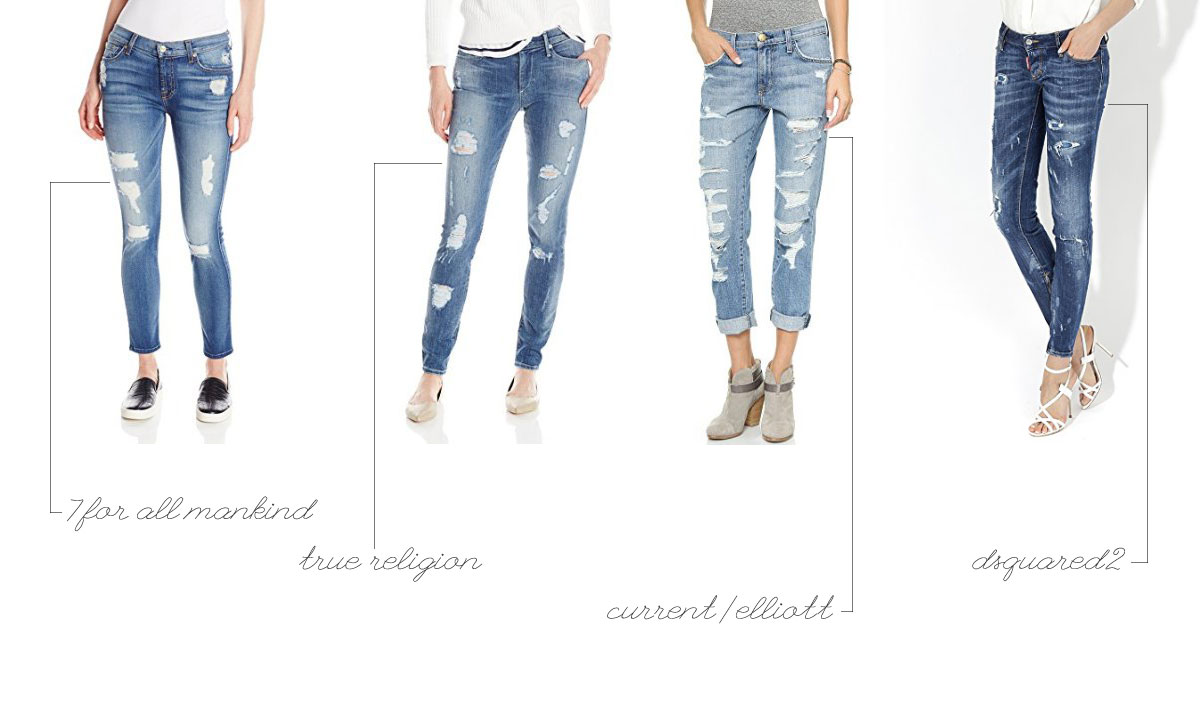 iconic denim brands distressed jeans