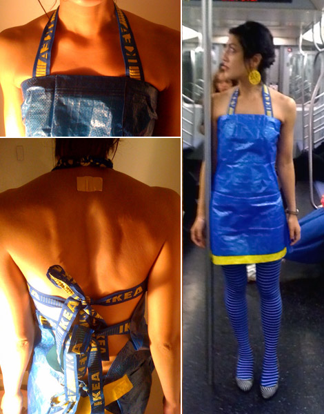 Ikea blue blag dress