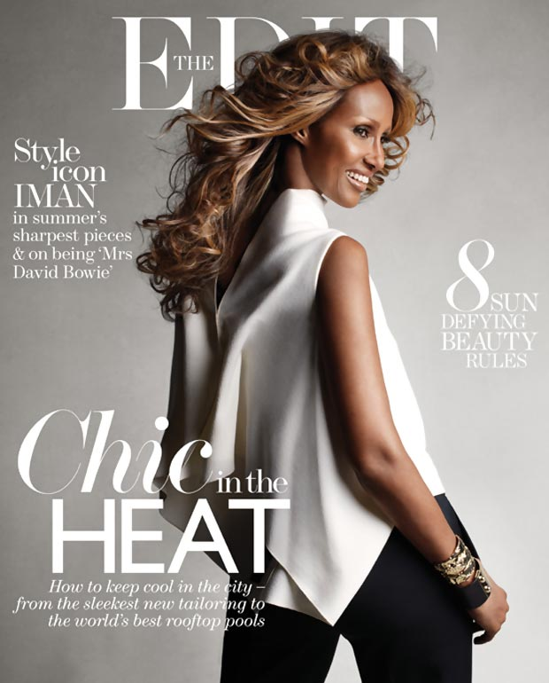 Iman latest magazine cover at 58