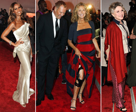 Iman Lauren Hutton Debbie Harry Met Gala 2009
