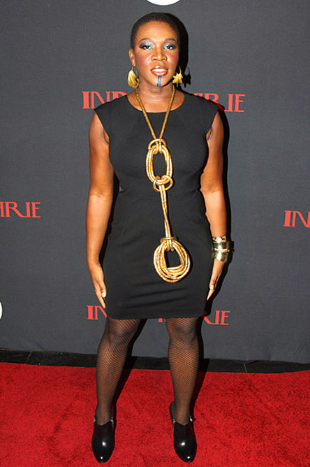 India Arie golden necklace