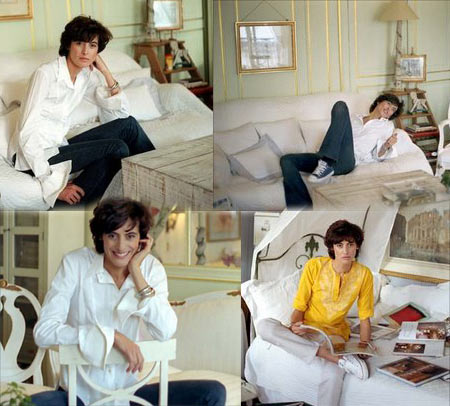 Ines de la Fressange at Home