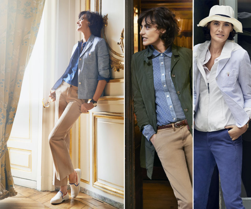 Ines de la Fressange Uniqlo clothing collection