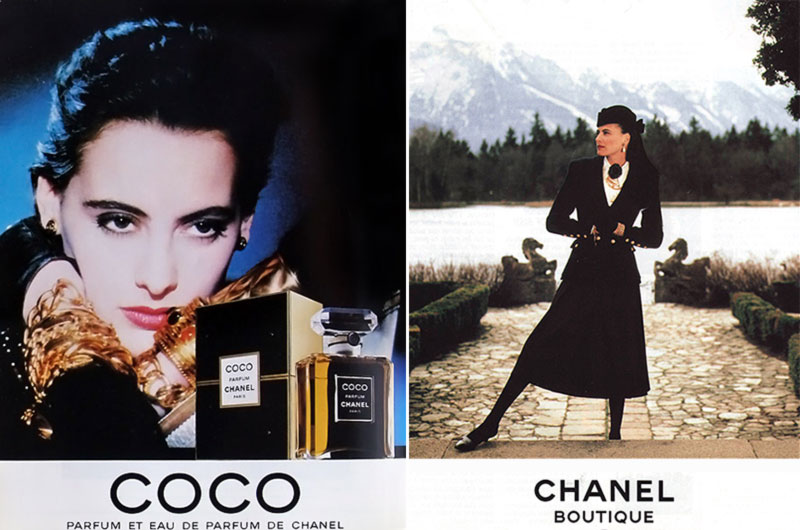 Ines de la Fressange advertising Chanel