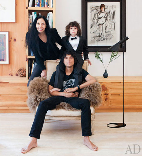 Inez van Lamsweerde Vinoodh Matadin with son in their home