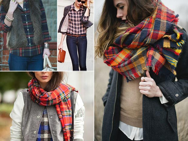 Inspiring fall outfits Tartan Plaid look