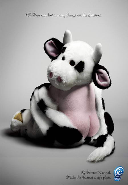 Internet Group parental control campaign cow