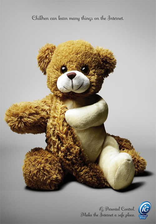 Internet Group parental control campaign teddy bear